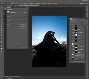 Screenshot of the Photoshop canvas